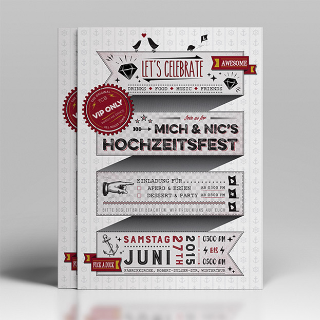 qda design porfolio: referenz print design hochzeitsflyer adobe illustrator cc