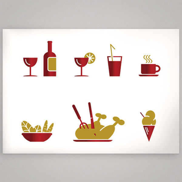 qda design portfolio: referenz food icons adobe illustrator cc