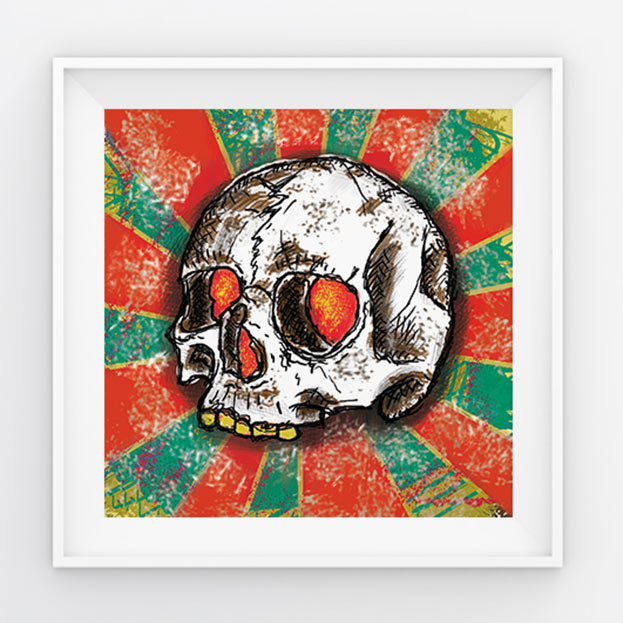 qda design referenz: freehand drawing tablet photoshop skull