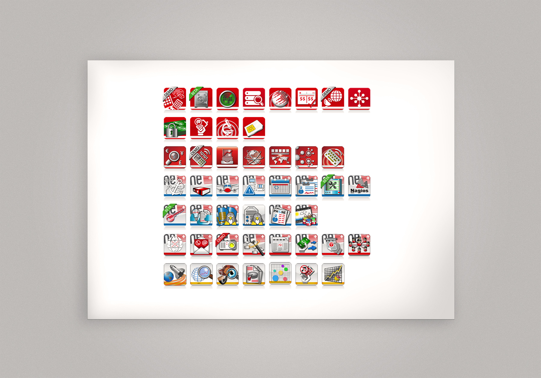 qda design portfolio: referenz comfone services icons adobe illustrator cc